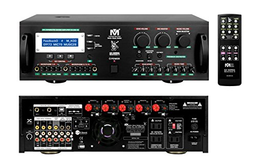 Better Music Builder DX-288 G3 900Watts CPU Integrated Professional Karaoke Mixing Amplifier