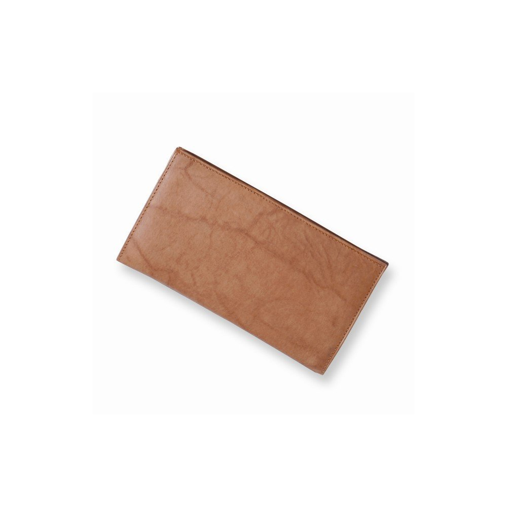 Best Designer Jewelry Tan Leather Jacket Checkbook Wallet by Jewelry Brothers Gifts