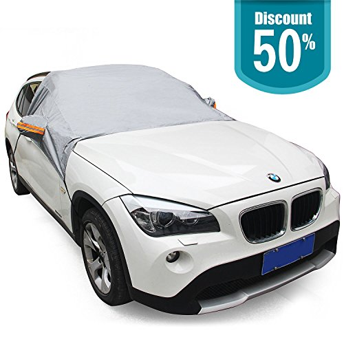 JJTGS Car Windshield protective Cover, Anti-Snow waterproof cover sedan, reflective anti-collision, for a variety of vehicles - SUVs, Vans and more