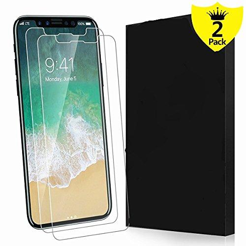 Sunface iPhone X Pellicola Protettiva, maxteck 0.3 mm 9H Temperato infrangibile vetro display schermo anti Shatter Film per iPhone X, con tecnologia Ultra HD [3d Touch Compatibile] [durezza 9H +] [2 P