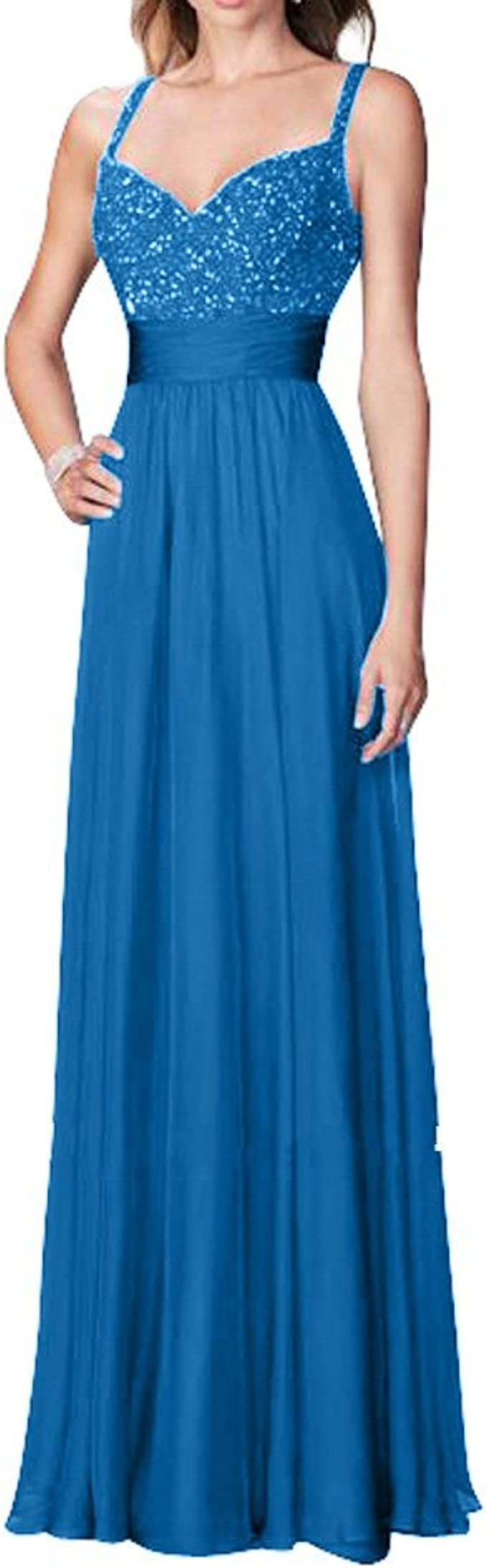 Royaldress Damen Royal Blau Spitze Abendkleider Partykleider