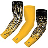 B-Driven Sports Tournament Series 3-Pack | 3 Athletic Compression Arm Sleeves | Moisture Wicking | UV Protection | for Youth, Men & Women | Choose from 40+ Colors & Designs