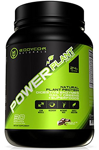 Right Foods Digestive Care (Bodycor™ PowerPlant All Natural Plant Based Protein (960 Grams - Chocolate Cream), Powerful Dietary Supplement with Digestive Enzymes, Greens & Superfoods, 100% Pure Vegan Formula)