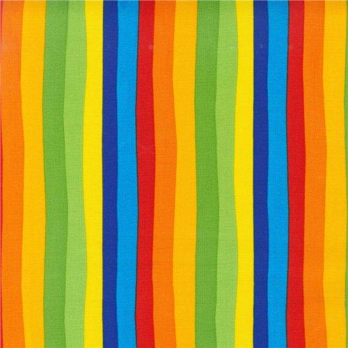 Stripe Quilt Fabric - Robert Kaufman DI-506 Celebrate Seuss Squiggle Stripe Fabric by The Yard, Multi