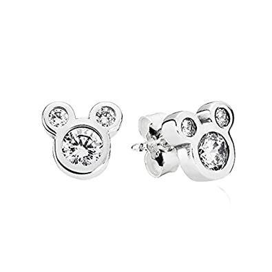 3014b5f74 PANDORA Disney Earrings Dazzling Mickey 290577CZ: Amazon.co.uk: Jewellery