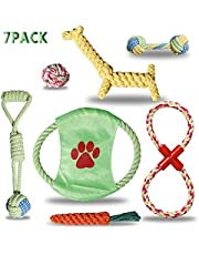 LOFTY Dog Toys Set Durable Tough Dog Rope Toys Colorful Attractive Pet Chew Toys for Small and Medium Dogs, Set of 7
