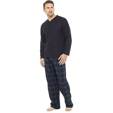 Gensen Mens Warm Fleece Jersey Winter PJ Pyjama Set Night Wear PJs Pyjamas  Sets New 4590c6579