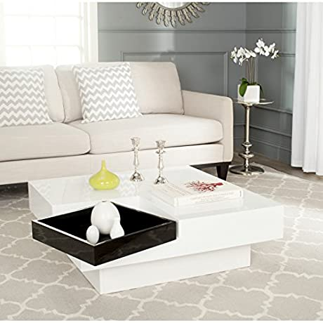 Safavieh Home Collection Wesley White And Black Coffee Table