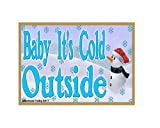snowman refrigerator magnet - Snowman Baby It's Cold Outside Christmas 3.5