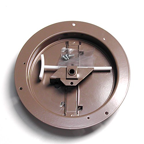 (Accord ABCDBRD08 Ceiling Damper with Round Butterfly Design, 8-Inch, Brown)