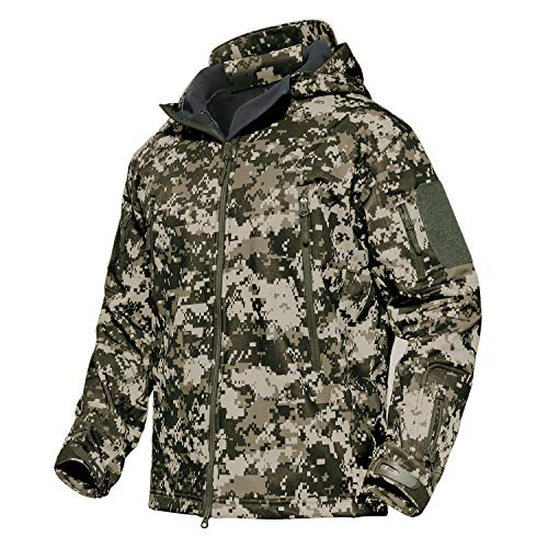 MAGCOMSEN Men's Tactical Military Hunting Ski Snow Jacket Camping Combat Coat ACU ()