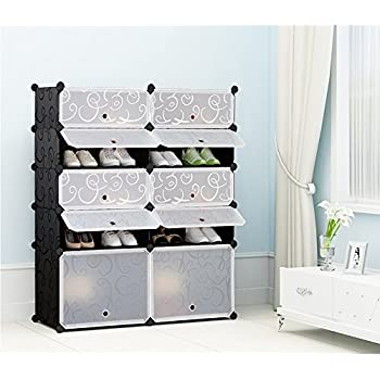 Amazon.com: Ikea Stall Shoe Cabinet With 4 Compartments, Black ...