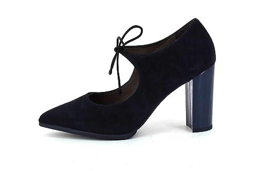 848cab9fe4bdf Patricia Miller Zapato de Tacón Acordonado Marino  Amazon.es  Zapatos y  complementos