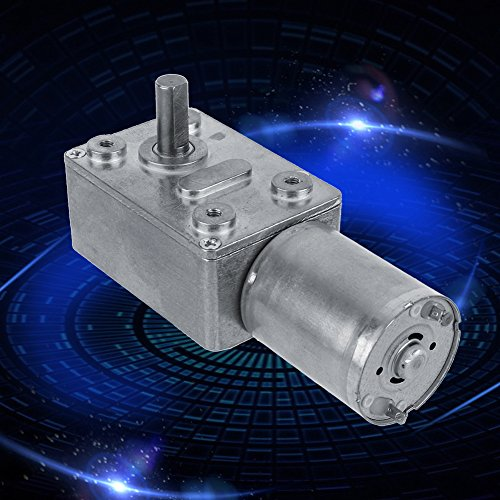 12V DC 2-100RPM Metal Gear Motor High Torque Turbine Turbo Worm Geared Reduction Electric Motor Worm Reducer