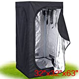 Neolifu 32''x32''x63'' Indoor Grow Tent Room Reflective Hydroponic Non Toxic Hut (Stock US)