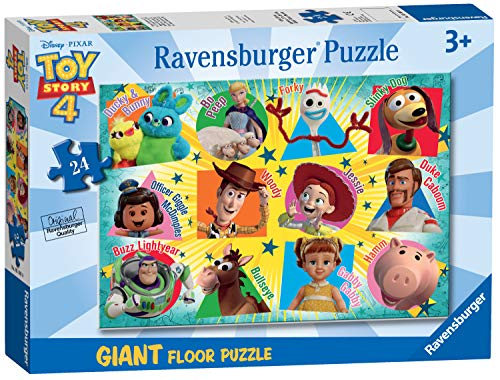 Ravensburger 05562 Disney Pixar Toy Story 4-24 Piece Giant Floor Jigsaw Puzzle for Kids - Every Piece is Unique - Pieces Fit Together Perfectly