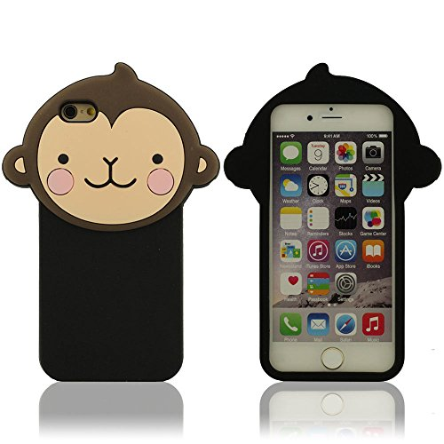 Silicone iPhone 6 Plus Coque (5.5 Pouce), Mignon Singe Apparence Forme, iPhone 6S Plus Étui de protection, Souple Case (iPhone 6 4.7