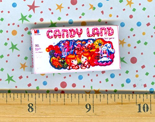 Fairy Candy Box - Dollhouse Miniature Size Board Game CANDYLAND Box - My Mini Fairy Garden Dollhouse Accessories for Outdoor or House Decor