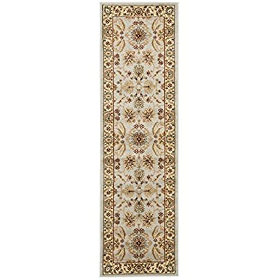 "Safavieh Lyndhurst Collection LNH216G Traditional Oriental Grey and Beige Runner (2'3"" x 8') - The high-quality polypropylene pile fiber adds durability and longevity to these rugs. The powerloomed construction adds durability to this rug, ensuring it will be a favorite for many years The traditional style of this rug will give your room a elegant accent - runner-rugs, entryway-furniture-decor, entryway-laundry-room - 51F8jGw121L. SS400  -"