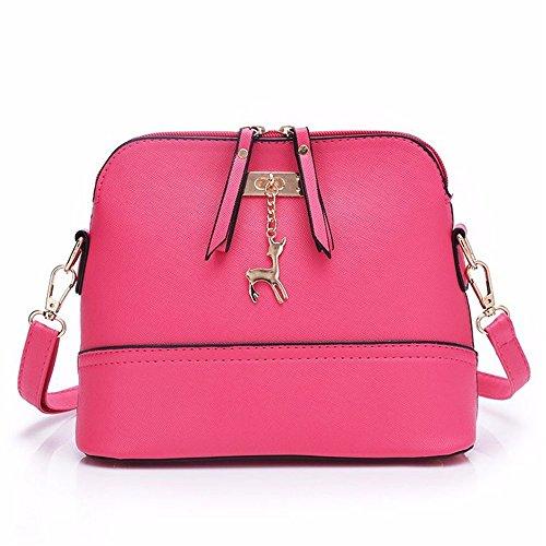 La Simples De La Bolso Único Satchel Tendencia Mujeres Pink Moda De Hombro De GWQGZ Las Gris Joker De w80xz4q47