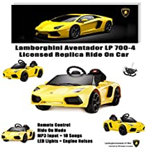 New Licensed Lamborghini Aventador Kids Boy Girl Ride on Powered Wheels Battery Toy Car,Remote control,Lights,Music