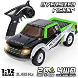 GPTOYS Remote Control Car 1:12 2.4GHz 4WD Off Road Monster Truck Oversized Pickup with LED Light