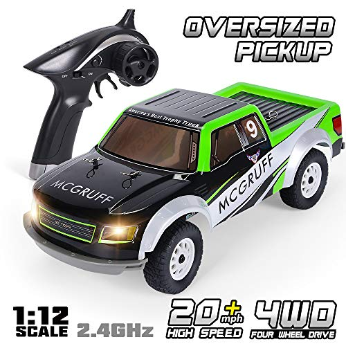 (GPTOYS Remote Control Car 1:12 2.4GHz 4WD Off Road Monster Truck Oversized Pickup with LED Light)