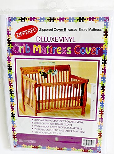 Deluxe Vinyl Crib Mattress Cover Zippered Keeps Bed bugs & Mites Out 28