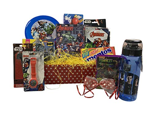 (Superhero Fun & Games Gift Basket for Boys Includes Avengers, Superman, Spiderman)