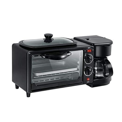 CS-LJ Mini Horno eléctrico Cafetera Máquina de Desayuno Tostadora ...