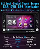 """Upgarde Version With Camera ! 6.2"""" Double DIN Car DVD CD Video Player Bluetooth In Dash GPS Navigation Car Stereo Radio Digital Touch Screen Head Unit Car PC 800MHZ CPU !!!"""