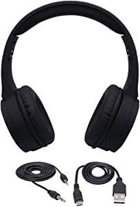 Wireless Headphones Stereo Gaming Headset for PS4, PC, Xbox One Controller, Noise Cancelling Headphones, Bass Surround, Laptop Soft Memory Headphones (Black)