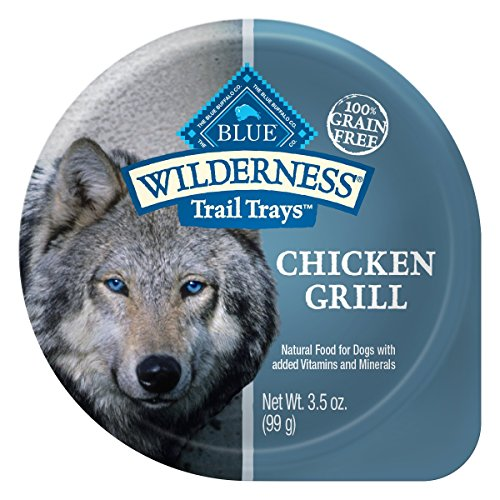 lderness Trail Trays Adult Grain Free Chicken Grill Wet Dog Food 3.5-oz (pack of 12) (Blue Buffalo Adult Chicken)