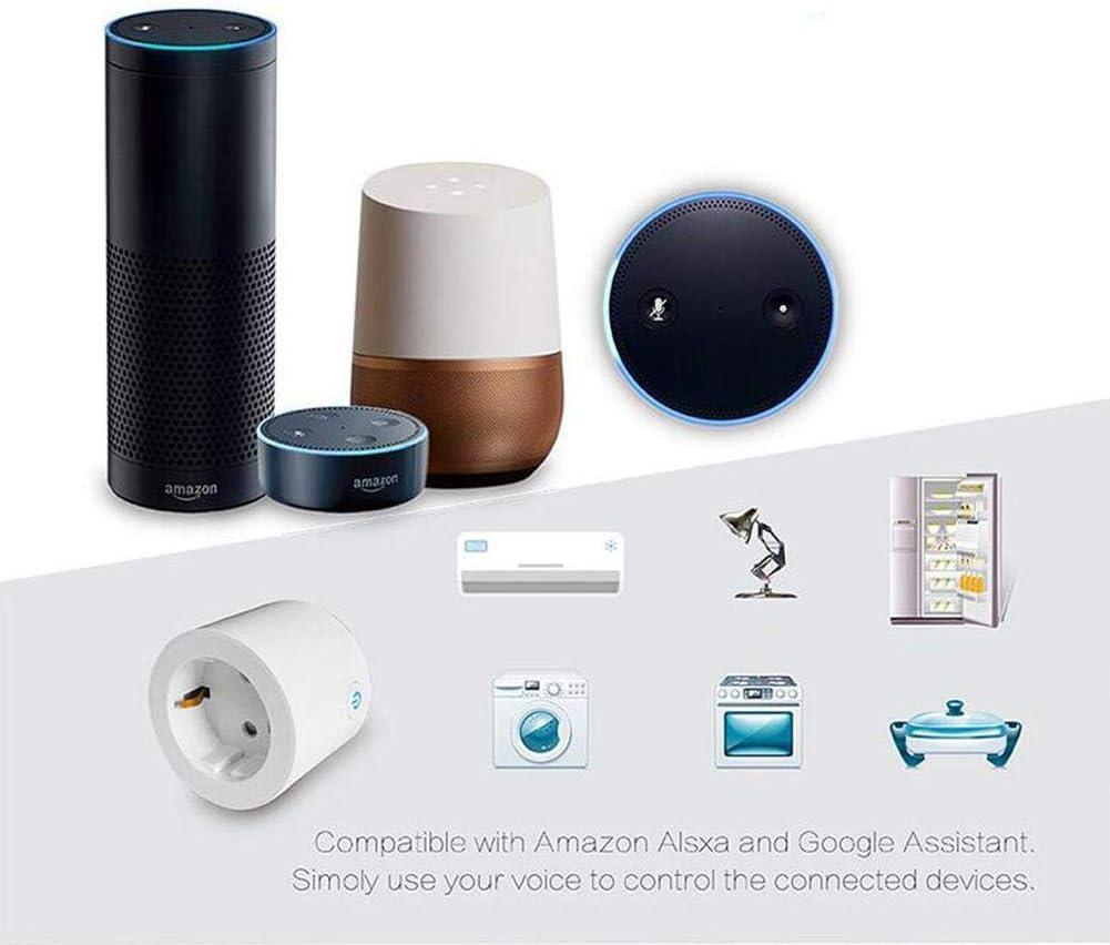 T/él/écommande APP TEEPAO Wi-FI Connect/ée Mini Smart Plug Compatible avec Alexa Google Assistant IFTTT Contr/ôle Vocal pour Appareils M/énagers Prise De Commutateur sans Fil avec Fonction De Minuterie