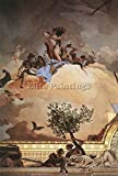 TIEPOLO PALACIO REAL GLORY SPAIN DETAIL3 ARTIST PAINTING OIL CANVAS REPRO ART 40x28inch