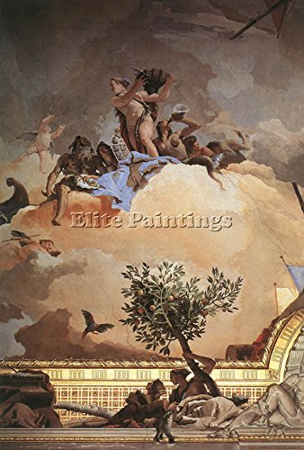 TIEPOLO PALACIO REAL GLORY SPAIN DETAIL3 ARTIST PAINTING OIL CANVAS REPRO ART 40x28inch by Elite-Paintings