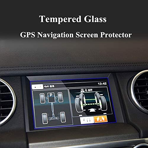7 inch HOTRIMWORLD Anti-Scratch Tempered Glass GPS Navigation Screen Protector Foil for Land Rover Range Rover Sport 2010-2013