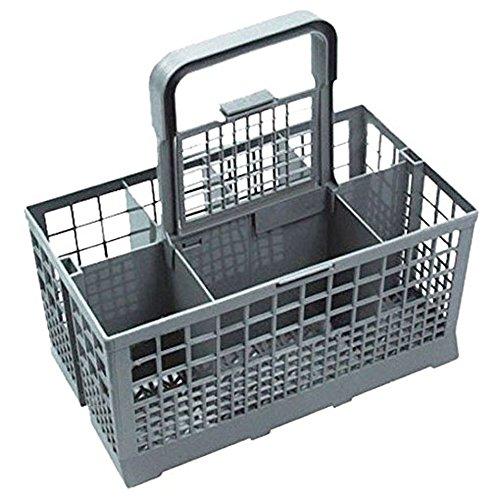 SPARES2GO Cubiertos cesta jaula para Miele lavaplatos (Mango extraíble, 240mm x 135mm, 125mm)