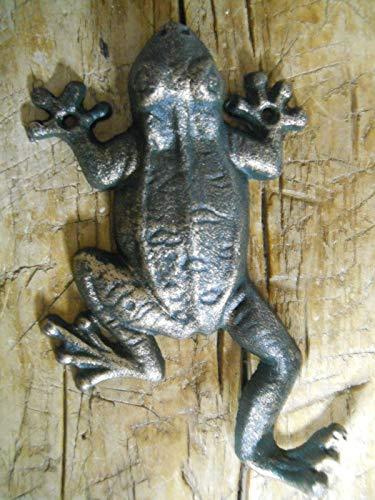 Vintage Antique Hooks 2 Cast Iron Antique Style Nautical Frog Coat Hooks Hat Hook Rack Towel Sea Toad