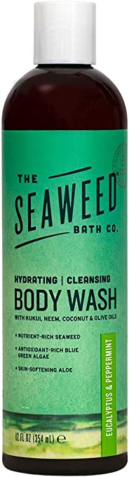 The Seaweed Bath Co.. Wildly Natural Seaweed Body Wash With Eucalyptus & Peppermint Scent, 12 Oz
