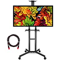 Suptek Universal TV Cart For LCD LED Plasma Panel Stand Mount With Wheels Mobile And 2 Adjustable Shelves For 32 to 60 Inch (ML5073 )