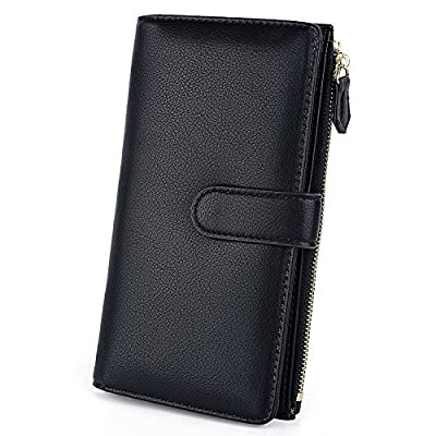 UTO RFID Wallet for Women PU Leather Large/Small Version Card Holder Organizer