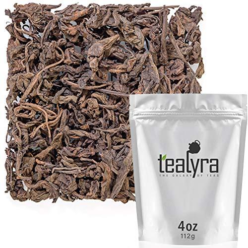 (Tealyra - 2009 Menghai First Grade Ripe Pu'erh - Yunnan Aged Loose Leaf Tea - Weight Loss Pu-erh - Bold Caffeine - 112g (4-ounce))