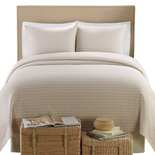 Lamont Home Lanai Matelasse 100-Percent Cotton 3-Piece Coverlet/Sham Set, King Size, Taupe by Lamont Home