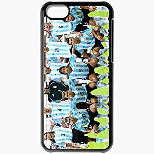 Personalized iPhone 5C Cell phone Case/Cover Skin Argentina Argentina Nicolas Anelka Arsenal Football Black