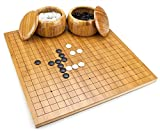 Go Set with Reversible Bamboo Board (19x19 & 13x13), Bowls, and Bakelite Stones by Brybelly