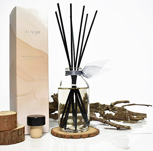 LOVSPA Romantic Smokey Fireside Embers Reed Diffuser Set by Includes a Wood Slice Coaster! Glowing Embers, Wood Smoke, Saffron Suede & Amber Cognac | A Masculine Scent | Gift for Dad or Husband! by LOVSPA (Image #5)
