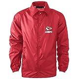 Dunbrooke Apparel NFL Kansas City Chiefs Men's Coaches Windbreaker Jacket, Small, Red