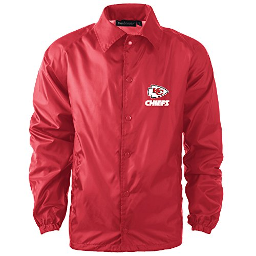NFL Kansas City Chiefs Men's Coaches Windbreaker Jacket, Large, Red