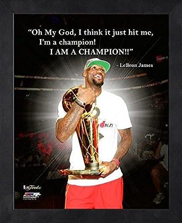 e08b4985344 LeBron James Miami Heat NBA framed Champion Pro Quotes 16x20 at Amazon s  Sports Collectibles Store